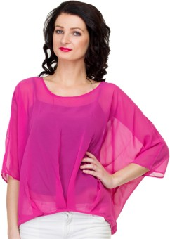 Uvi Style Casual 3/4 Sleeve Solid Women's Top