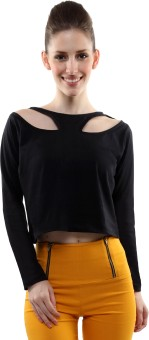 Miss Chase Casual Full Sleeve Solid Women's Top
