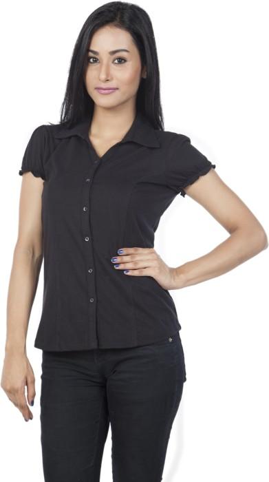 Identiti Casual Short Sleeve Solid Women's Top - TOPDQW5JPX6CHZCB