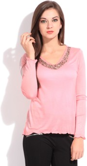 Amari West Casual Full Sleeve Solid Women Top