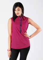 Mohr Casual Sleeveless Solid Women's Top