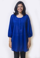 Mayank Modi Party 3/4 Sleeve Solid Women's Top