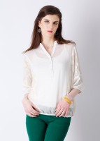 AND Casual 3/4 Sleeve Solid Women's Top