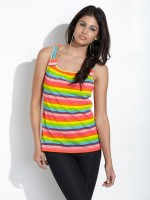 109F Casual Sleeveless Striped Women's Top