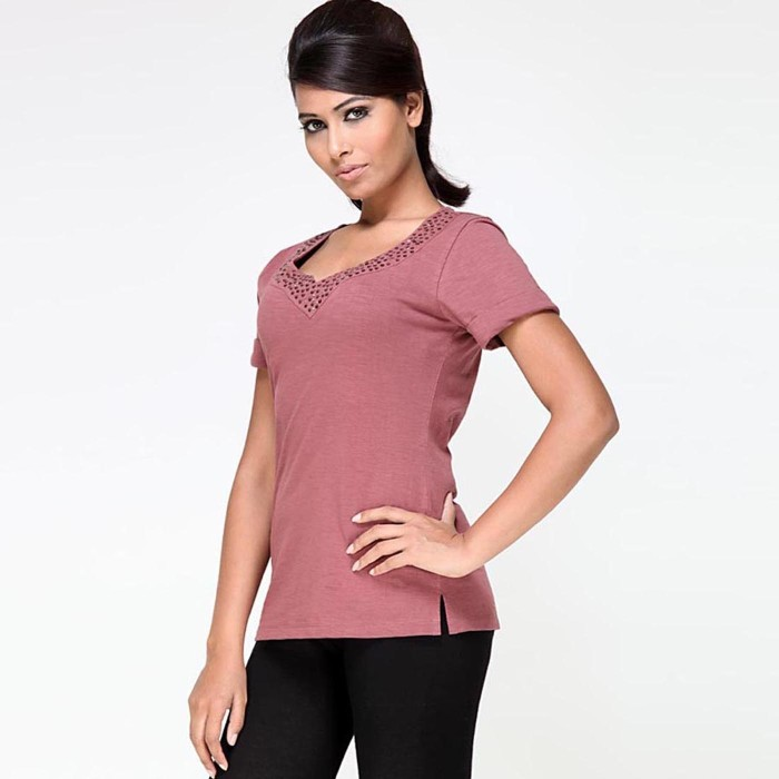 My Addiction Casual Short Sleeve Solid Women's Top - TOPDSJ4KW4FY4Z2T