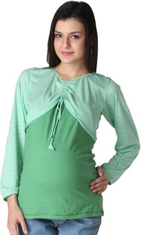 Morph Maternity Casual Full Sleeve Solid Women's Top