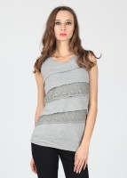 Alibi Casual Sleeveless Solid Women's Top