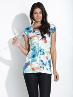 109F Casual Sleeveless Printed Women's Top
