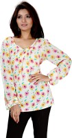 Kurtiz Casual Full Sleeve Floral Print Women's Top