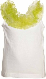 Lil Poppets Casual Sleeveless Solid Girl's White Top