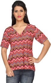Layla Casual Short Sleeve Printed Women's Top-tops and tees
