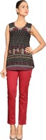 Label Ritu Kumar Casual Sleeveless Printed Women's Top