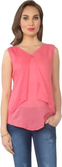From The Ramp Casual Sleeveless Solid Women's Top