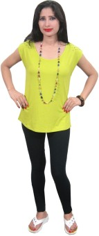 Indiatrendzs Casual Sleeveless Solid Women's Top
