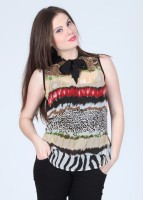 Mishka Casual Sleeveless Printed Women's Top