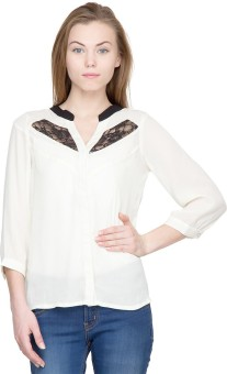 Latin Quarters Casual 3/4 Sleeve Solid Women's Top