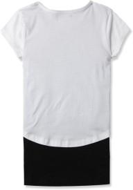 London Fog Kids Casual Short Sleeve Graphic Print Girl's Black Top