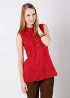 Scullers Casual Sleeveless Solid Women's Top