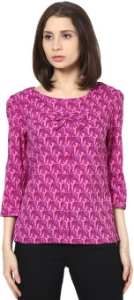 SS Casual 3/4 Sleeve Printed Women's Top