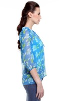 My Addiction Casual 3/4 Sleeve Floral Print Women's Top