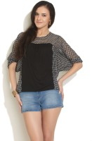 Color Cocktail Casual 3/4 Sleeve Striped Women's Top