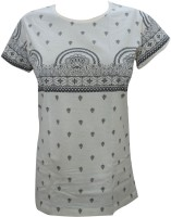 Indiatrendzs Casual Cap sleeve Printed Women's Top