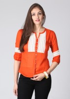 Noi Casual 3/4 Sleeve Solid Women's Top