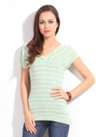 Allen Solly Casual Short Sleeve Striped Women's Top