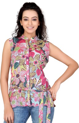 Lifestyle Lifestyle Retail Missy Casual Sleeveless Printed Women's Top (Multicolor)