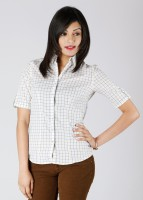 Scullers Casual Short Sleeve Checkered Women's Top