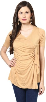 Glam & Luxe Casual Short Sleeve Solid Women's Top