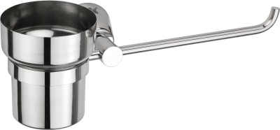 Jwell Toothbrush Holder with Towel Bar - Silk Series 6.69 inch 1 Bar Towel Rod Stainless Steel Pack of 1