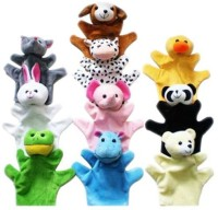 Kuhu Creations Animal Hand Puppets (Pack Of 10)