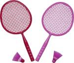 Fun Factory Fun Factory SML Barbie Cricket Set Girls, Boys Badminton Kit
