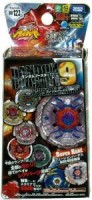 Takaratomy Beyblades #BB123 Japanese Metal Fusion Volume 9 (Blue, White, Black)