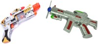 New Pinch Combo Of Musical Lazer Sound & Space Gun For Kids (Multicolor)