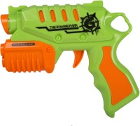 Building Mart Super Fun Rapid Fire Toy Bullet Gun With 2 Zombie Targets (Green)