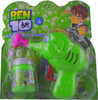 Shop4everything Bubble Gun With Continuous Bubble ( Non Electronic ) (Green)