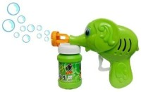 Light Gear Hand Pressing Bubble Making Fun Toy Gun (Color And Design May Vary) (Multicolor)
