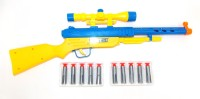 E-Toys Air Gun With 10 Bullets (Yellow, Blue)