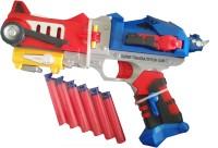 Vaibhav Transformers Optimus Prime Soft Bullet Blaster Super Transmutation Gun (Red, Blue)