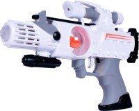 Planet Of Toys PLANET OF TOYS SPACE GUN 28CMS WHITE (LED LIGHT AND SOUND) (Multicolor)