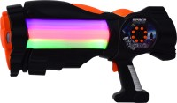 Planet Of Toys SPACE WARS SERIES: PLANET OF TOYS SPACE GUN 38CMS BLACK (LED LIGHT AND SOUND) (Black)