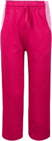 Jazzup Solid Girl's Pink Track Pants
