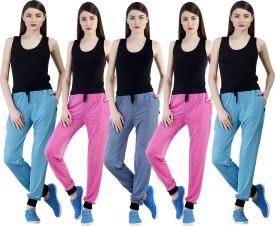 Dee Mannequin Self Design Women's Dark Blue, Pink, Pink, Blue, Blue Track Pants