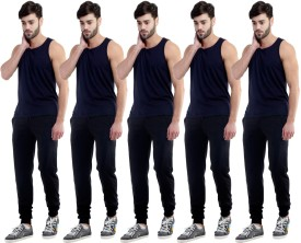 Dee Mannequin Self Design Men's Black, Black, Black, Black, Black Track Pants