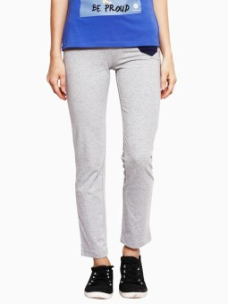American Swan Solid Women's Grey Track Pants