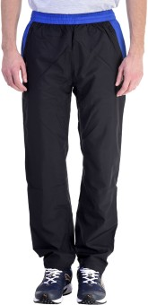 Pure Play Solid Men's Blue, Black Track Pants