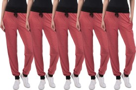 Gaushi Solid Women's Red, Red, Red, Red, Red Track Pants