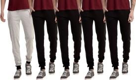 Gaushi Solid Men's Grey, Black, Black, Black, Black Track Pants